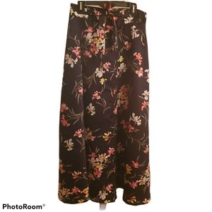 Lovely Y2K Floral Wrap Maxi Skirt